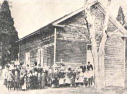 The first Waugh church building was established in 1843.