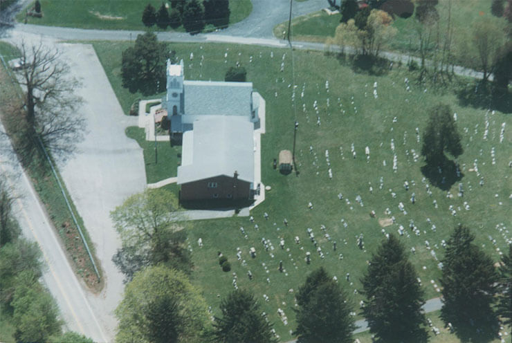 Aerial View of Fork United Methodist Church