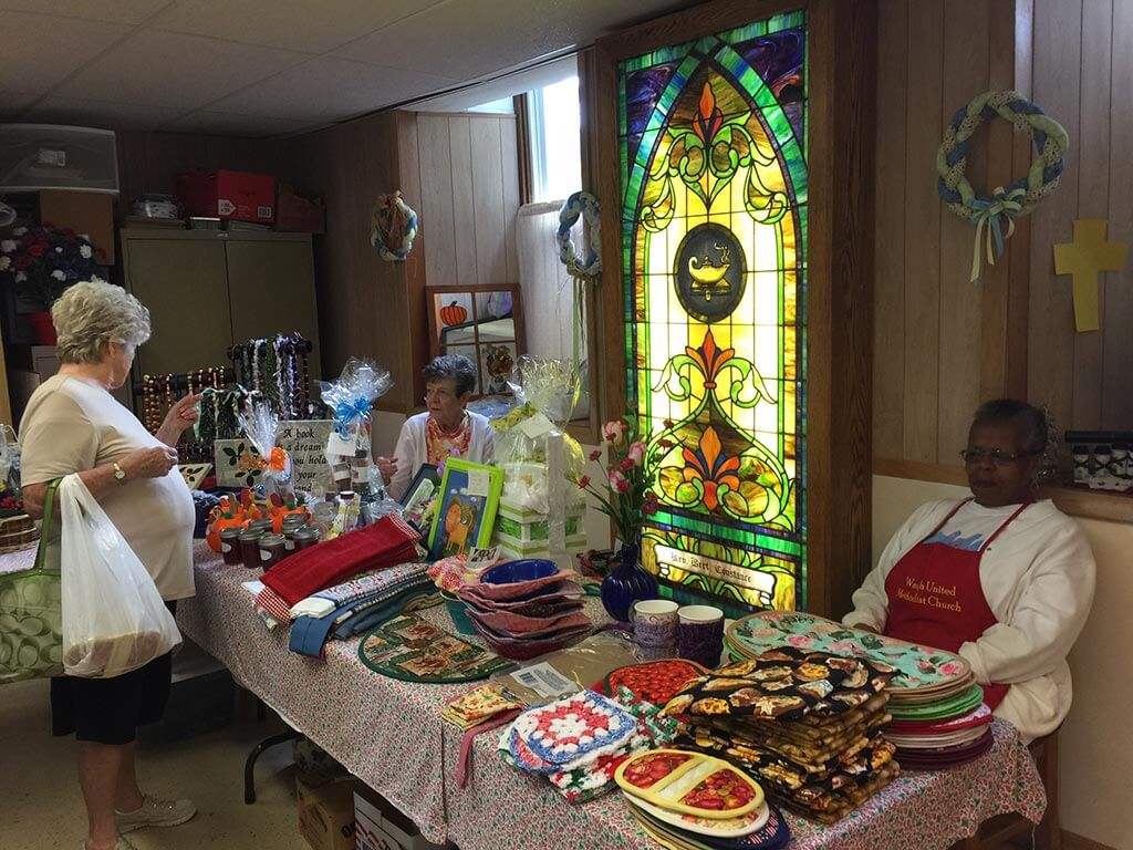strawberry-festival-interior-with-stained-glass