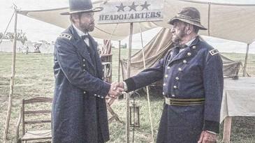 LtGen. Grant (Brian Withrow) and MajGen. Meade (Pete Peters)