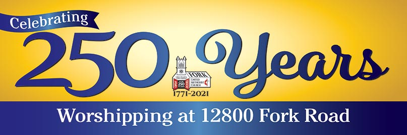 Graphic of image celebrating 250th Anniversary of Fork Church